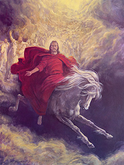 Christ in red robes