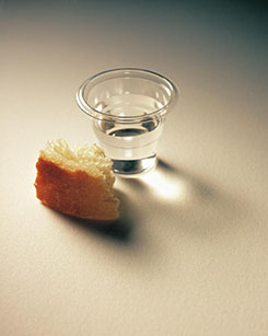 sacrament bread and cup