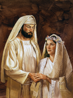 New Testament–era bridal couple