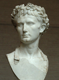 sculpture of Augustus Caesar
