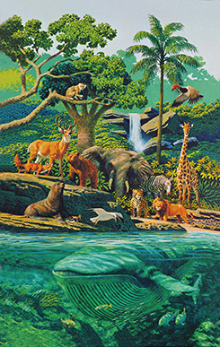 animals and trees