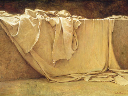 empty burial cloths