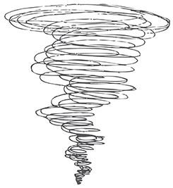 how to draw a tornado
