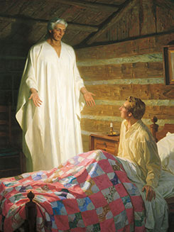 Angel Moroni Appears to Joseph Smith in His Room