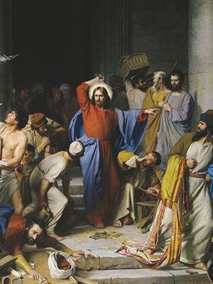 성전을 정결케 하시는 예수님