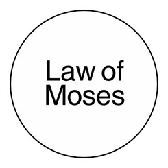 words Law of Moses in circle