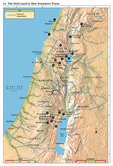 map, Holy Land in New Testament Times