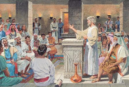 Jakob predigt das Wort Gottes.
