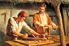 Jesus and Joseph working