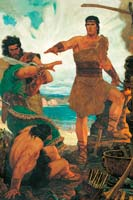 Nephi subdues brothers