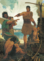 Nephi rebuking his older brothers