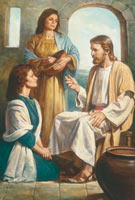 Christ teaching Martha and Mary