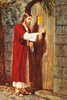Christ at door