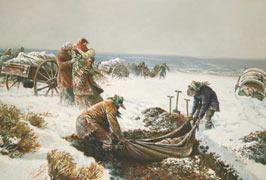 Handcart pioneers