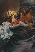 Christ calming storm