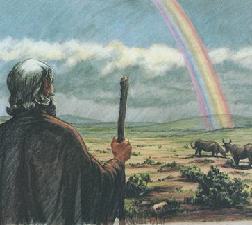 Noah gazing at rainbow
