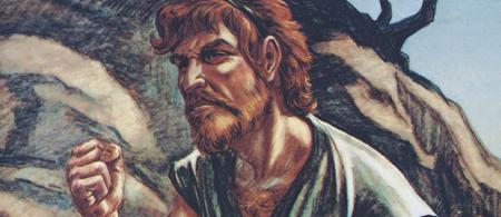 Esau grimacing