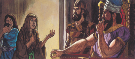 El rey Salomón juzga a dos mujeres neoatierra