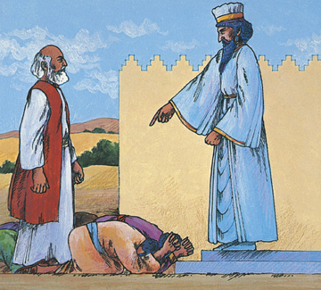 Mordecai not bowing to Haman