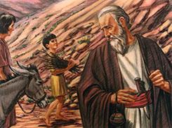Abraham and Isaac walking