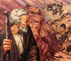 Isaac talking to Abraham