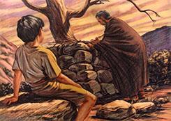 Abraham builing altar