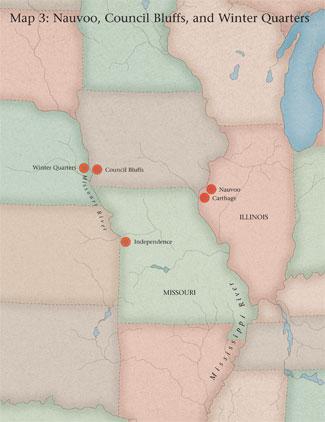 map of Missouri and Illinois