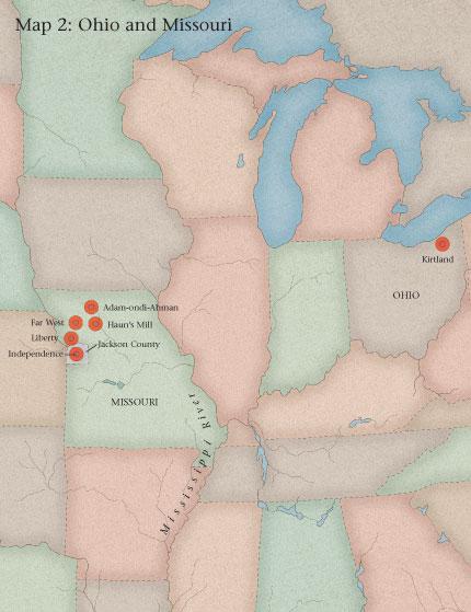 Map 2 Ohio And Missouri