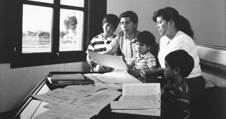 family doing geneology