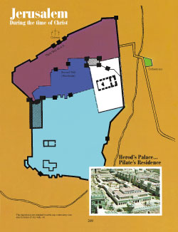 Map of Jerusalem - during Christ's life - Appendix E