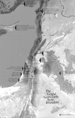Map of Jerusalem - Gospel goes forth - Appendix E