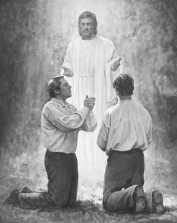 John the Baptist ordaining Joseph Smith and Oliver Cowdery