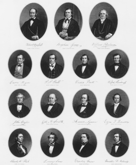 engraving of 1853 First Presidency and Twelve