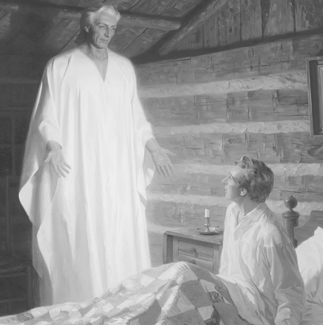 Moroni appearing to Joseph Smith