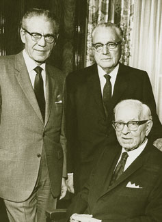 President Joseph Fielding Smith with his counselors