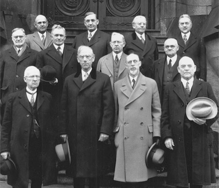 The Quorum of the Twelve Apostles circa 1930s.
