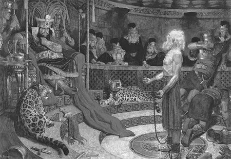 Abinadi in King Noah's court