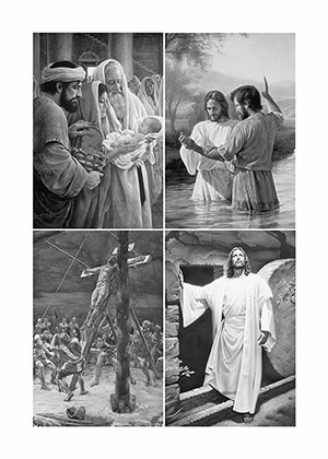 Life of Christ collage