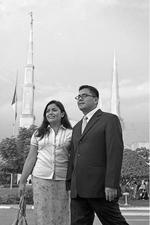 Young couple at Lima Peru Temple