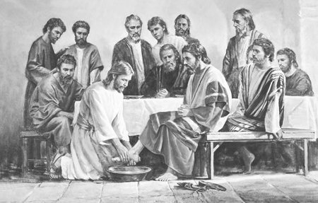Christ washing Apostle's feet