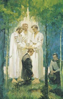 Peter, James, and John ordaining Joseph