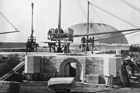 Salt Lake Temple construction