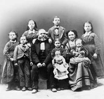 Edward Martin family 1870