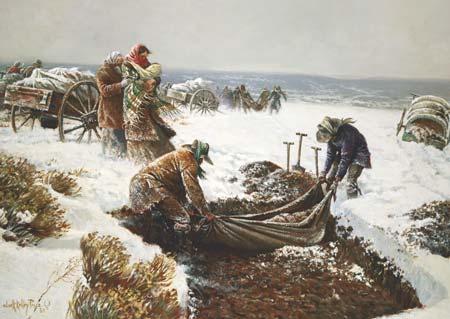 pioneers burying dead
