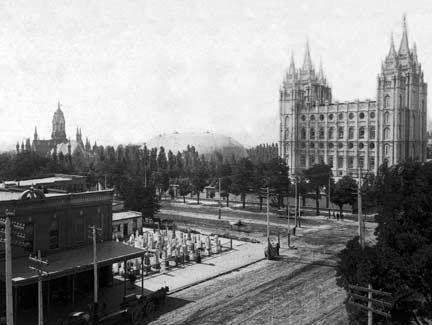 Salt Lake Temple in 1892