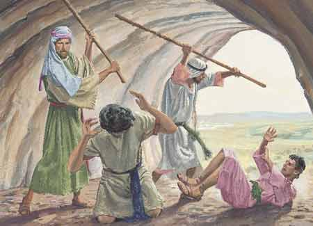 Laman and Lemuel beating Nephi and Sam