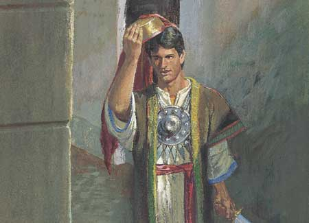 Nephi in Laban's clothes