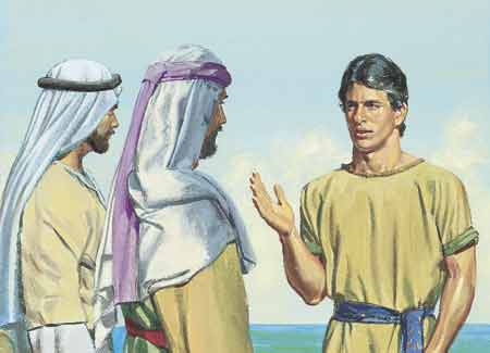 Nephi talking to Laman and Lemuel