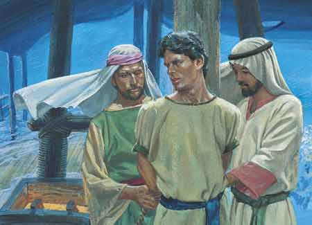 Laman and Lemuel tying up Nephi