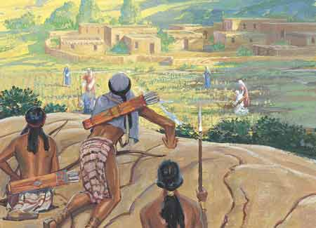 Lamanites trying to kill Nephites